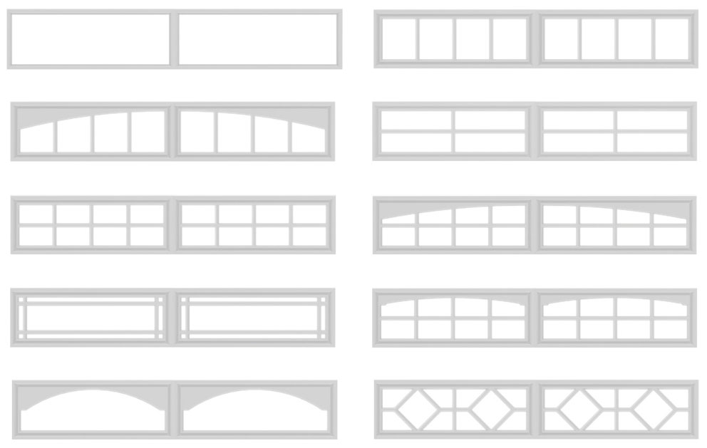 Garage Door Window Shapes